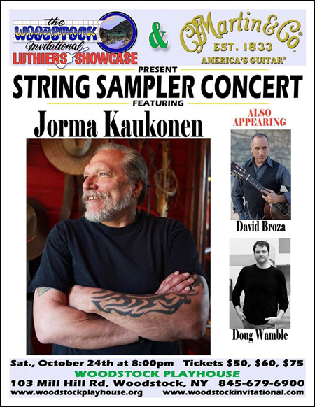 October 24, 2015 - The Woodstock Invitational Luthiers Showcase and C. F. Martin & Co., Inc. Present String Sampler Concert