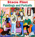 Stacie Flint,Expressionist Paintings and Portrait Commissions