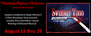 Sweeney Todd at the Woodstock Playhouse